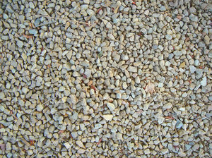Gravel: Common gravel used in construction