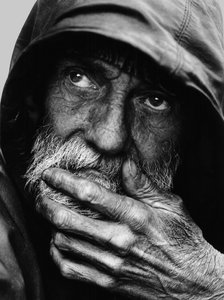Pensive Homeless Portraiture I
