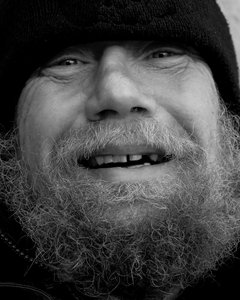 Smiling Homeless