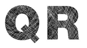 Q and R: Distressed Letters.Please visit my stockxpert gallery:http://www.stockxpert.com ..
