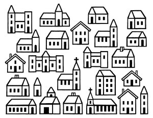 House Dingbats: Simple building graphics.Please visit my stockxpert gallery:http://www.stockxpert.com ..