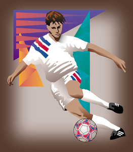 Soccer: Soccer Player illustration.Please visit my stockxpert gallery:http://www.stockxpert.com ..