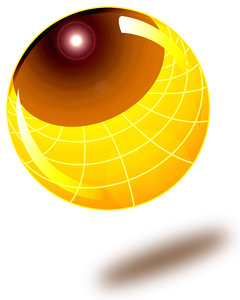 Gold Ball: Computer generated illustration of a gold ball.Please visit my stockxpert gallery:http://www.stockxpert.com ..