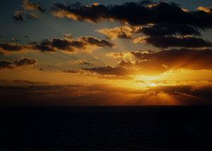 sunset on the sea 2