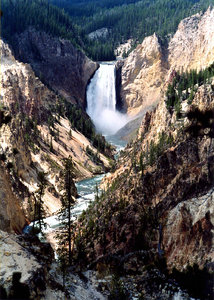 Yellowstone falls 2: Landscape of Yellowstone's falls