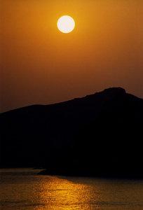 sunset on the sea 4