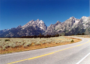 Grand Teton 1: landscape of grand Teton National Park