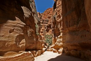 Siq 4: Different prospective of Siq in Petra (Jordan)