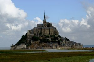 mont st. michel 5: Different view at Mont St. Michel (France)