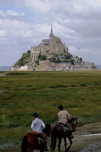 mont st. michel 7: Different view at Mont St. Michel (France)