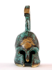 Greek helmet 2: We found this 5 cms helmet at a local workshop of the beautiful greek island called Hydra.