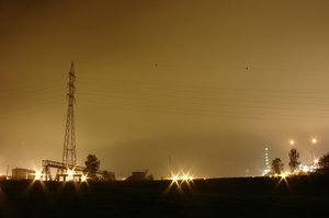 By night : an oil facility