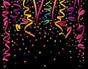 Confetti: Colorful streamers and confetti.This is The Lo Res Version.For The Hi Res Version, Please visit my gallery at:http://www.stockxpert.com ..