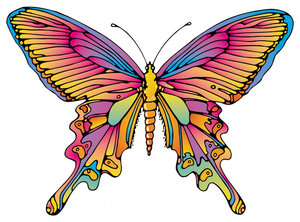 Butterfly: A colorful illustration of a butterfly.This is The Lo Res Version.For The Hi Res Version, Please visit my gallery at:http://www.stockxpert.com ..