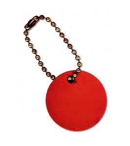 Red Tag: A vintage red tag on a chain.This is the Lo Res version.For the Hi Res version visit:http://www.stockxpert.com ..