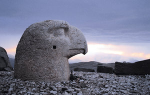 Lost Heads: Heads of statues on Mount Nemrut, Commagene burial site in Turkey