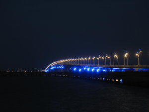 Island Bridge: The longest bridge in Europe spans from La Rochelle to the Il d'Oleron - lit up at night it makes for such a pretty subject.