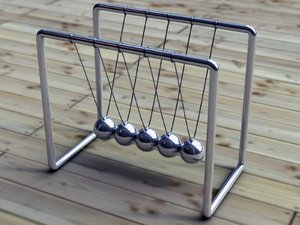 Newton's Cradle: Newton's Cradle, done in LightWave 3D v9.3.1