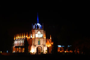 Church: This is a shot of a church in Goa, India.