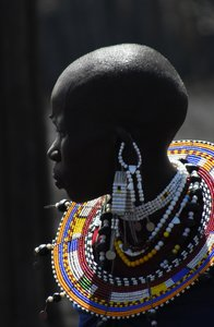 Portrait of a Masai woman