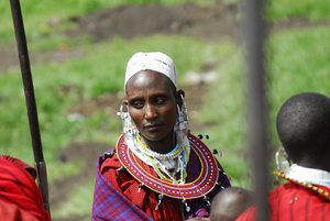 Portrait of a Masai woman