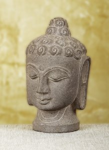 Buddha: Hand made sculpture of Buddha - Stone head of Buddha
