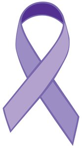 Single Ribbon Purple