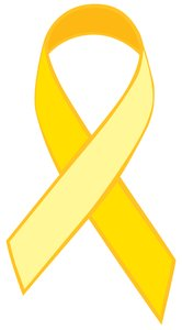 Single Ribbon Yellow: Yellow vector Ribbon