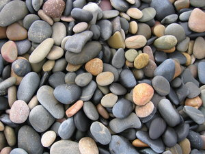 Sea, beach and wet stones