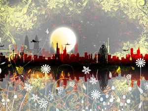 Dreamscape 4: Cityscape in a series of colours and concepts.I was trying a set of new photoshop brushes I downloaded yesterday and this is what I came up with.Please comment and vote.Love you all !
