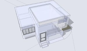 Building 3D and wireframe 1