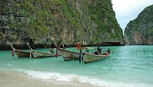 Longtails 3: Various shots of Thai Longtail Boats...NB: Credit to read