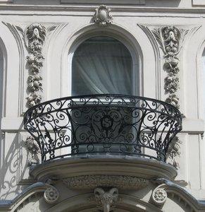 wrought-iron balcony