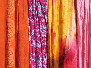 batik shawl texture