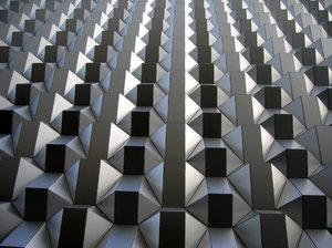 modern rhombus facade texture
