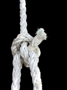 white rope - bowline knot