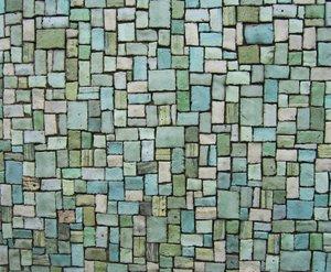 green pastel mosaic texture
