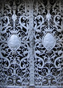 wrought-iron door