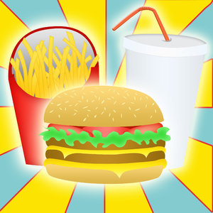 Burger, drink and fries
