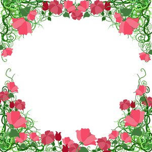 ... frame with flowers. **If you download this for online use, PLEASE send