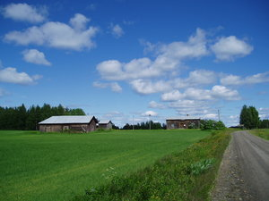 Old farm ...: ... in the north of Sweden.
