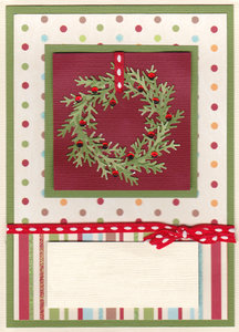 Christmas scrap: Christmas greetings template scrap