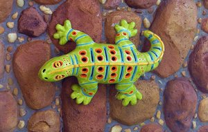 lizzard: clay lizzy on the rocks
