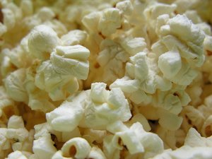 Popcorn - macro: For a moment I was intrigued by the cool texture and shapes and then I ate it all. :-)