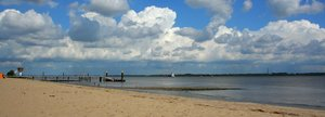 beach: River Elbe close to the mouth in Cuxhaven