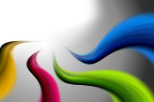 Colorful Stripes 3: Image shows colorful stripes on the shaded background
