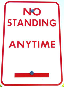 no standing