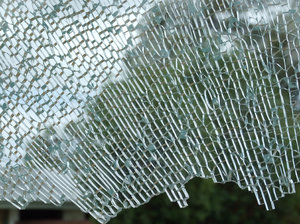shattered glass,: shattered glass window