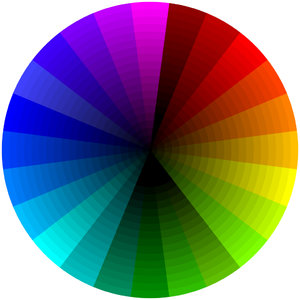 Color Model (Subtractive): This color wheel demonstrates the subtractive colour model. This representation is in the form of a colour wheel.
