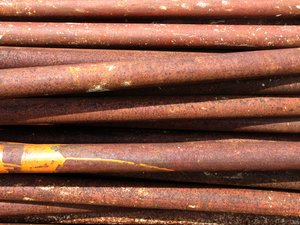 Metal pipe rust